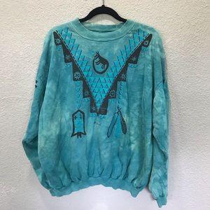VINTAGE Dagoli Star Walker Turquoise Sweatshirt